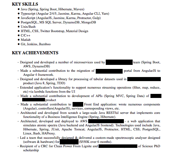 Software Engineer Resume The Definitive Guide 2019
